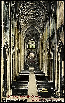 St Mary Redcliffe Interior Posted 1914 Stamp Intact