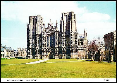 Wells Cathedral West Front By Judges C1175