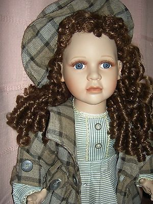 """OUTSTANDING, fine quality vintage 25"""" bisque head sgnd.artist doll~Ashley Belle"""