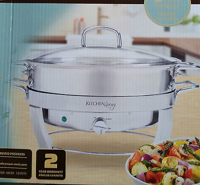 *NEW* 5-quart STAINLESS STEEL ELECTRIC CHAFING DISH KITCHEN LIVING