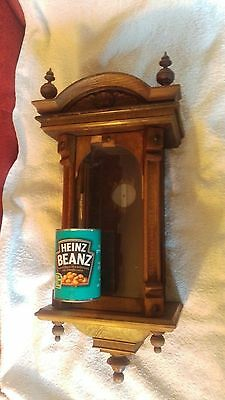 antique small vienna clock case canted corners  need work parts spares project
