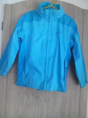 Fab Wee Girls Blue Lined Regatta Jacket Size 3-4.Yrs. GD.