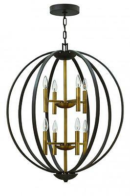 Euclid 8 Light  Spanish Bronze Chandelier