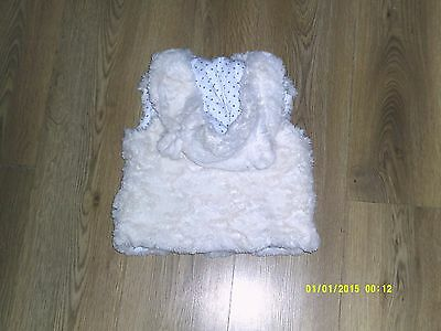 Girls Faux Fur Gillet With Animal Ears Age 2 - 3 Years Tu Clothing