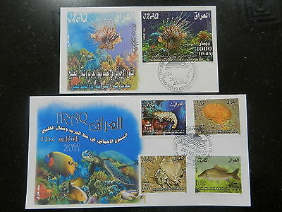 Iraq 2011 FDC set Fish in shat al arab and gulf