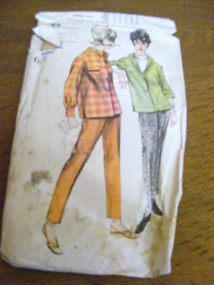Vintage 1950s sewing pattern Vogue 5984 drain-pipe trousers & blouse size 18
