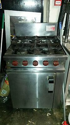 Professional catering kitchen 4 burner stainless steel range cooker
