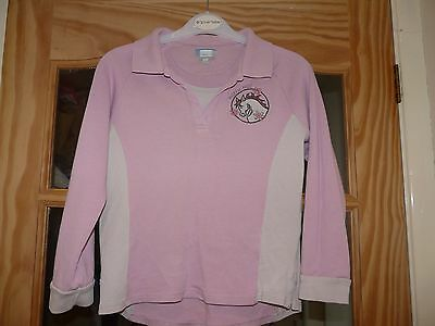Pink And Cream Harry Hall Top Size 10-11 years