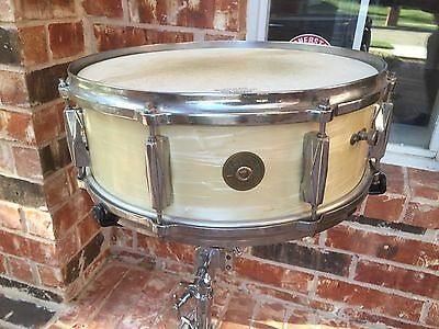 1940's-50's Gretsch 8 Rocket lug 5x14 WMP Snare Drum-  Rare 4 ply Shell!!