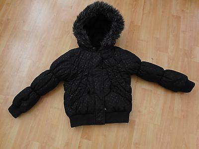 Girls Padded Coat With Stars Age 6-7