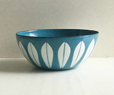 Cathrineholm blue lotus bowl 3 in. signed, no chips