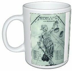 Metallica And Justice For All Classic 1988 UK Tour Poster Coffee Mug