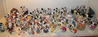 50 pc Lot MARY MOO MOOS Cow Figurines Enesco CHRISTMAS JOHN DEERE