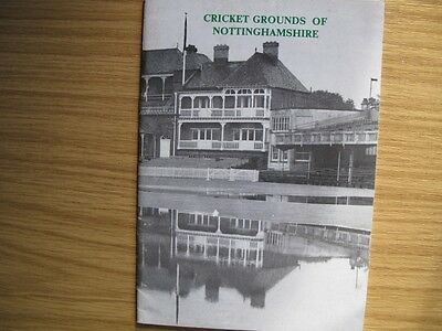 Cricket Grounds Of  Nottinghamshire - Booklet By Acs - Signed By P. Wynne-Thomas