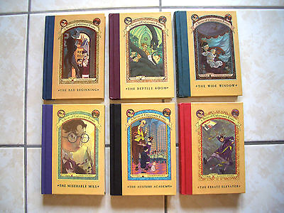 """Ross Antony ** LEMONY SNICKET Band 1-6 Buch-Paket """"Series of Unfortunate Events"""""""