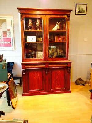 Mahogany Antique Bookcase - French
