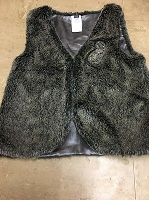 Girls Lovely Fur Gillet From m&co Age 9/10 Yrs