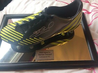 Steven Gerrard Hand Signed Football Boot In Perspex Case (with Certificate)