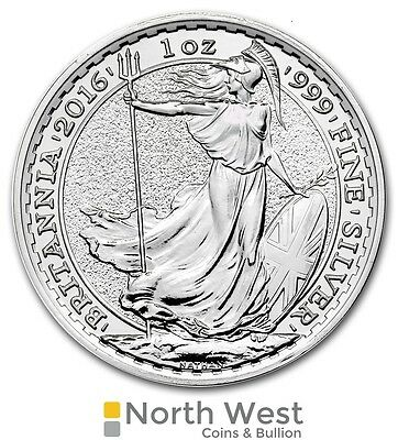 Silver Britannia, 2016 uncirculated 1oz Silver Bullion Coin