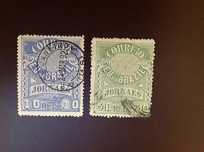 Brazil 1890 Newspaper Stamps SGN119 & SGN127 FU