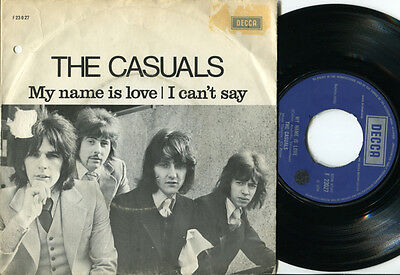 CASUALS - My Name Is Love / I Can't Say 45 UK '70 MOD FREAKBEAT PSYCH RARE UK PS