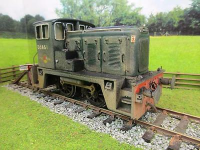 7mm FINESCALE O GAUGE KIT BUILT BR GREEN DIESEL SHUNTER 02 'D2851'