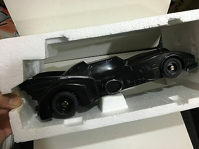 VINTAGE NOVELTY PUSH BATMOBILE BY BAN DAI AM(MW) BAND RADIO FROM-1980s WITH BOX