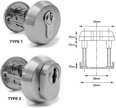 Very High Security Euro Lock Escutcheons - Cast Grade #304 Stainless Steel