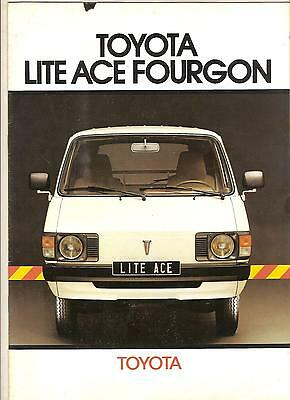 TOYOTA LITE ACE CATALOGUE 8 PAGES 1981 format A4 FRANCE