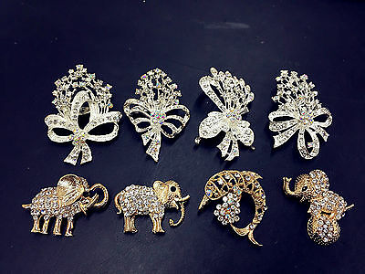 wholesale job lot jewellery animal,flower brooches, 4 pcs a pack