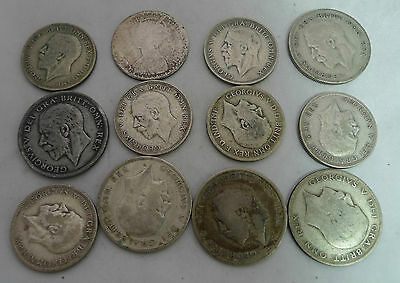Eight One Florin Coins 1920 - 1935 & Five Half Crowns 1920 - 1931 156g