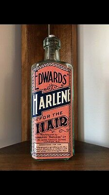 Edwards Harlene For The Hair With Box Embossed Fine Example 1910 Rare Find