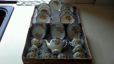 CHILDS CHINA 21 PIECE TEASET ORIENTAL 1950's VINTAGE MADE IN JAPAN