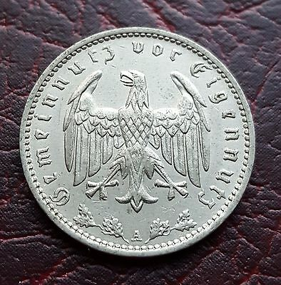 (28B) Germany 1935A 1 Reichsmark coin