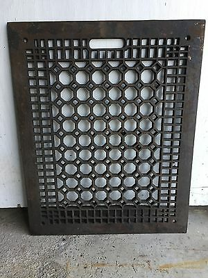 LARGE 20x16 ART CRAFT DECO VICTORIAN CAST IRON FLOOR HEATING GRATE VENT REGISTER