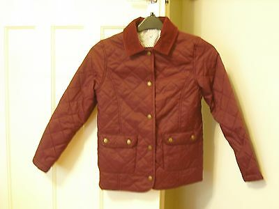 Girls Bergundy Jacket Age 11 - 12 Years M&s Indigo Excellent Condition