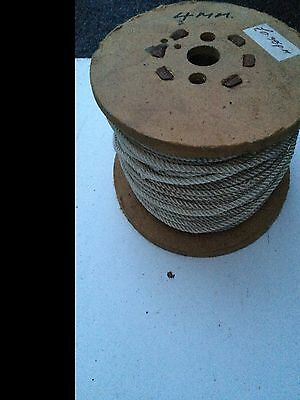 Nylon coil of rope, approx 100 metres x 4mm, white in colour