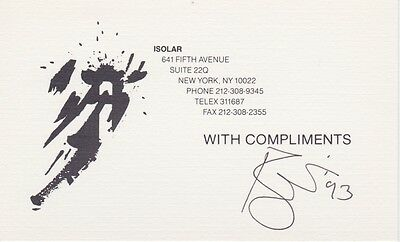 """DAVID BOWIE A Signed """"With Compliments"""" Card"""" EPPERSON COA, Lifetime Guarantee"""
