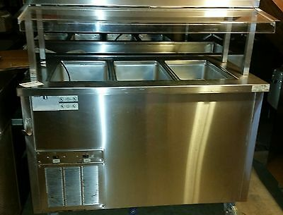 buffet table, Delfield Shellysteel 3 well Cold Buffet with Sneezeguard 2 *VIDEO*