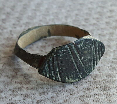ANCIENT ROMAN BRONZE RING 16mm