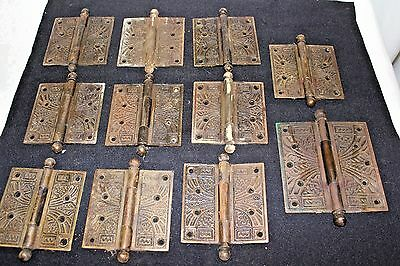 11 Antique Eastlake Victorian Door Hinge 4 x 4 / 5/5  Untouched