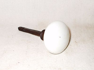 Antique Salvage Vintage White Porcelain Ceramic Door Knob Handle From Old Home