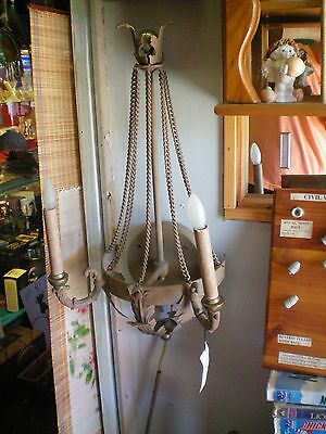 Hart associates sconce metal with chains, new vintage with original price tag