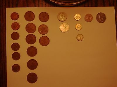 Lot Of English Circulated Modern Coins