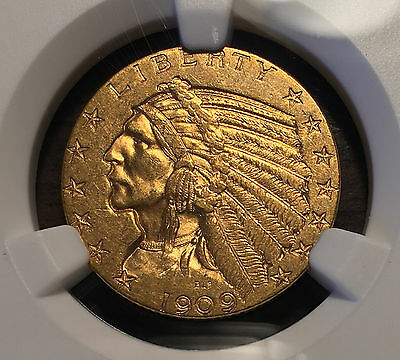 1909-D $5 Gold Indian Half Eagle NGC MS 61