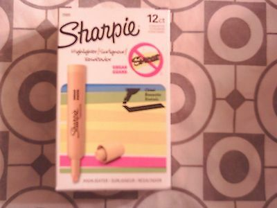 Sharpie Accent Tank-Style Yellow Highlighters (25005) 12-Pack