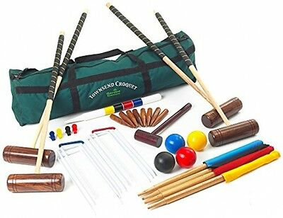 Garden Games Townsend Full Sized 4 Player Croquet Set With Canvas Carry Bag