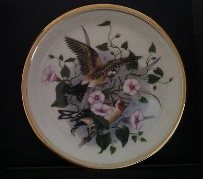 Bone china birds of the hedgerow goldfinch plate excellent condition