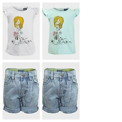 Girls Shorts & Top Bespoke Cute Outfit. Colours Mint or White. Age 1 2 3 4 Years