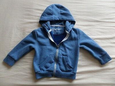 Rebel Boys Girls Unisex Pale Blue Long Sleeve Hooded Jacket Size 2-3 Years